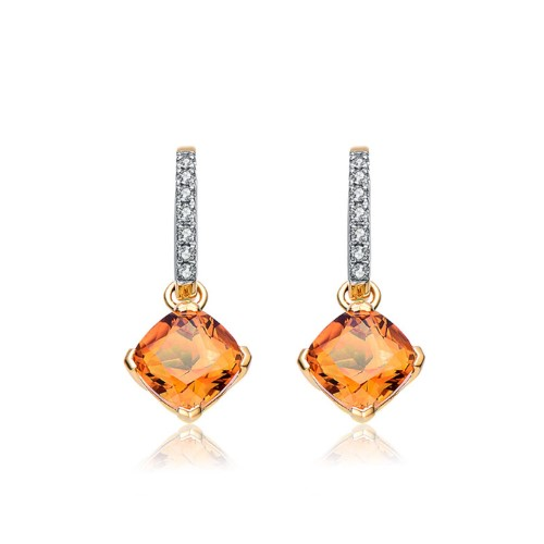 The golden horse with Topaz Diamond Earrings group